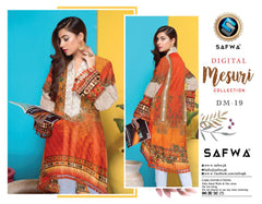 DM-19-SAFWA DIGITAL PRINTED MESURI SHIRT COLLECTION 2020 - MESURI LAWN SHIRT-KURTI
