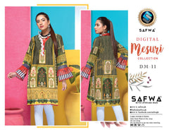 DM-11-SAFWA DIGITAL PRINTED MESURI SHIRT COLLECTION 2020 - MESURI LAWN SHIRT-KURTI