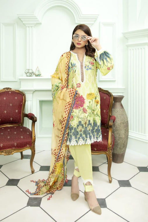SK 04 - SAFWA DIGITAL KHADDAR 3 PIECE PRINT COLLECTION -SHIRT Trouser and Duptta |SAFWA DRESS DESIGN| DRESSES| PAKISTANI DRESSES| SAFWA -SAFWA Brand Pakistan online shopping for Designer Dresses