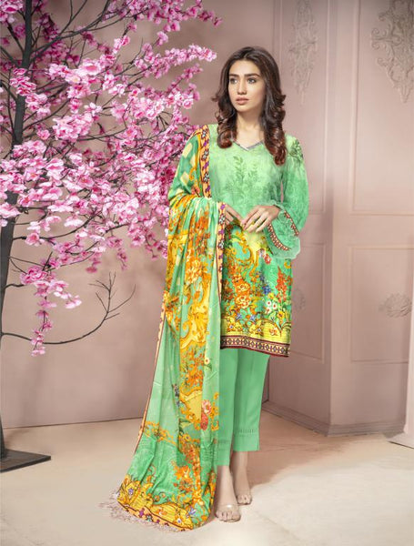 KRR 02 - SAFWA DIGITAL KARANDI-3 PIECE  PRINT COLLECTION -SHIRT Trouser and Duptta |SAFWA DRESS DESIGN| DRESSES| PAKISTANI DRESSES| SAFWA -SAFWA Brand Pakistan online shopping for Designer Dresses