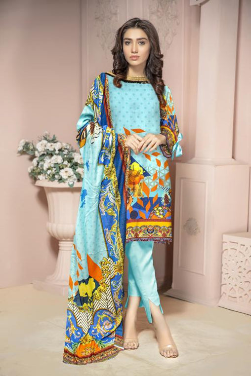 KRR 03 - SAFWA DIGITAL KARANDI-3 PIECE  PRINT COLLECTION -SHIRT Trouser and Duptta |SAFWA DRESS DESIGN| DRESSES| PAKISTANI DRESSES| SAFWA -SAFWA Brand Pakistan online shopping for Designer Dresses