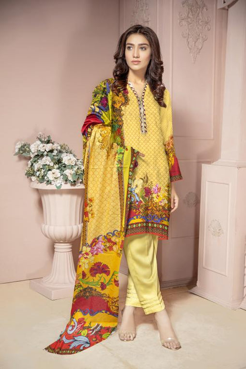 KRR 05 - SAFWA DIGITAL KARANDI-3 PIECE  PRINT COLLECTION -SHIRT Trouser and Duptta |SAFWA DRESS DESIGN| DRESSES| PAKISTANI DRESSES| SAFWA -SAFWA Brand Pakistan online shopping for Designer Dresses