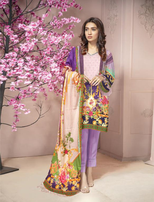 KRR 06 - SAFWA DIGITAL KARANDI-3 PIECE  PRINT COLLECTION -SHIRT Trouser and Duptta |SAFWA DRESS DESIGN| DRESSES| PAKISTANI DRESSES| SAFWA -SAFWA Brand Pakistan online shopping for Designer Dresses