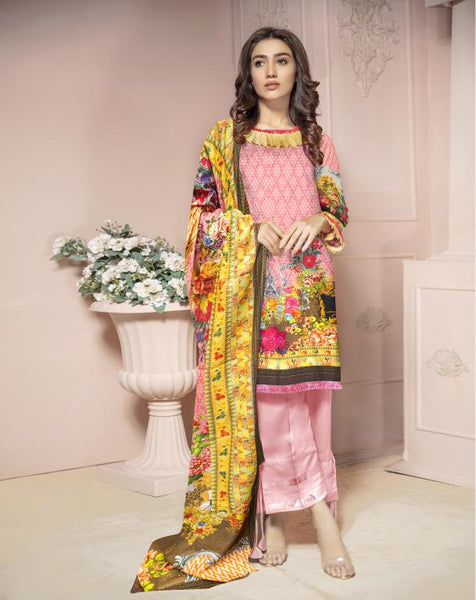 KRR 09 - SAFWA DIGITAL KARANDI-3 PIECE  PRINT COLLECTION -SHIRT Trouser and Duptta |SAFWA DRESS DESIGN| DRESSES| PAKISTANI DRESSES| SAFWA -SAFWA Brand Pakistan online shopping for Designer Dresses