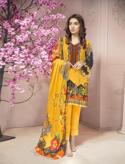 KRR 10 - SAFWA DIGITAL KARANDI-3 PIECE  PRINT COLLECTION -SHIRT Trouser and Duptta |SAFWA DRESS DESIGN| DRESSES| PAKISTANI DRESSES| SAFWA -SAFWA Brand Pakistan online shopping for Designer Dresses