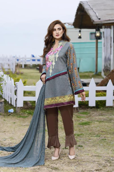 AC-05-SAFWA AWESOME COLLECTION Vol 1-3 PIECE SUIT SAFWA Three Piece Suit Dress Design, Pakistani Dresses, Online Shopping in Pakistan