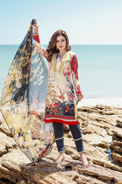 M  04-SAFWA LAWN-MODISH COLLECTION- PRINTED -2 PIECE DRESS - Safwa |Dresses| Pakistani Dresses| Fashion|Online Shopping