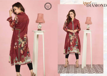 DCSS-26- SAFWA DIGITAL COTTON Satin PRINT KURTI COLLECTION -SHIRT KURTI KAMEEZ