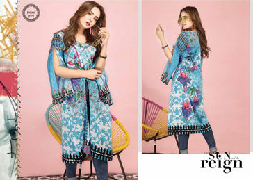 DCSS-29- SAFWA DIGITAL COTTON Satin PRINT KURTI COLLECTION -SHIRT KURTI KAMEEZ