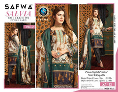 SL-13 -SAFWA LAWN-SALVIA COLLECTION VOL 01 2020 - PRINTED -2 PIECE DRESS - Safwa |Dresses| Pakistani Dresses| Fashion|Online Shopping