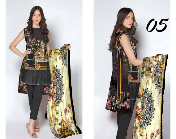 SL-1126-SAFWA LAWN-SALVIA COLLECTION- PRINTED -2 PIECE DRESS