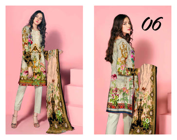 SL-1127-SAFWA LAWN-SALVIA COLLECTION- PRINTED -2 PIECE DRESS