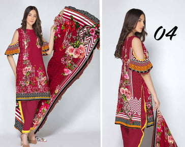 SL-1125-SAFWA LAWN-SALVIA COLLECTION- PRINTED -2 PIECE DRESS