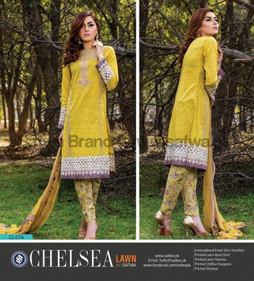 Three Piece Suit - SAHARA-UNSTITCHED-SAFWA-CL07A