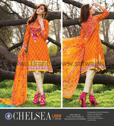 Three Piece Suit - TANGERINE-UNSTITCHED-SAFWA-CL15A
