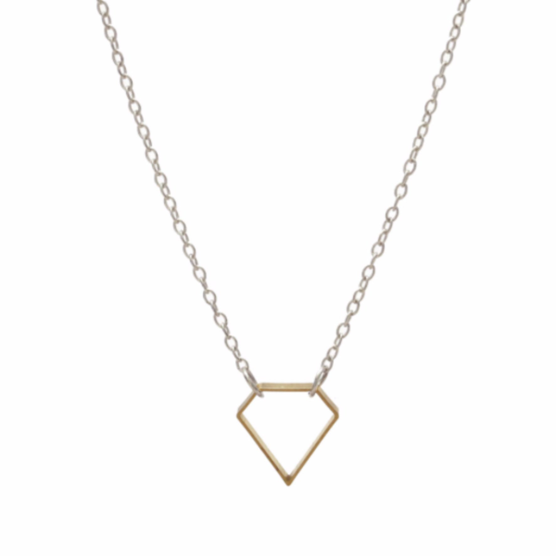 DIAMOND SHAPE NECKLACE - DOODAH