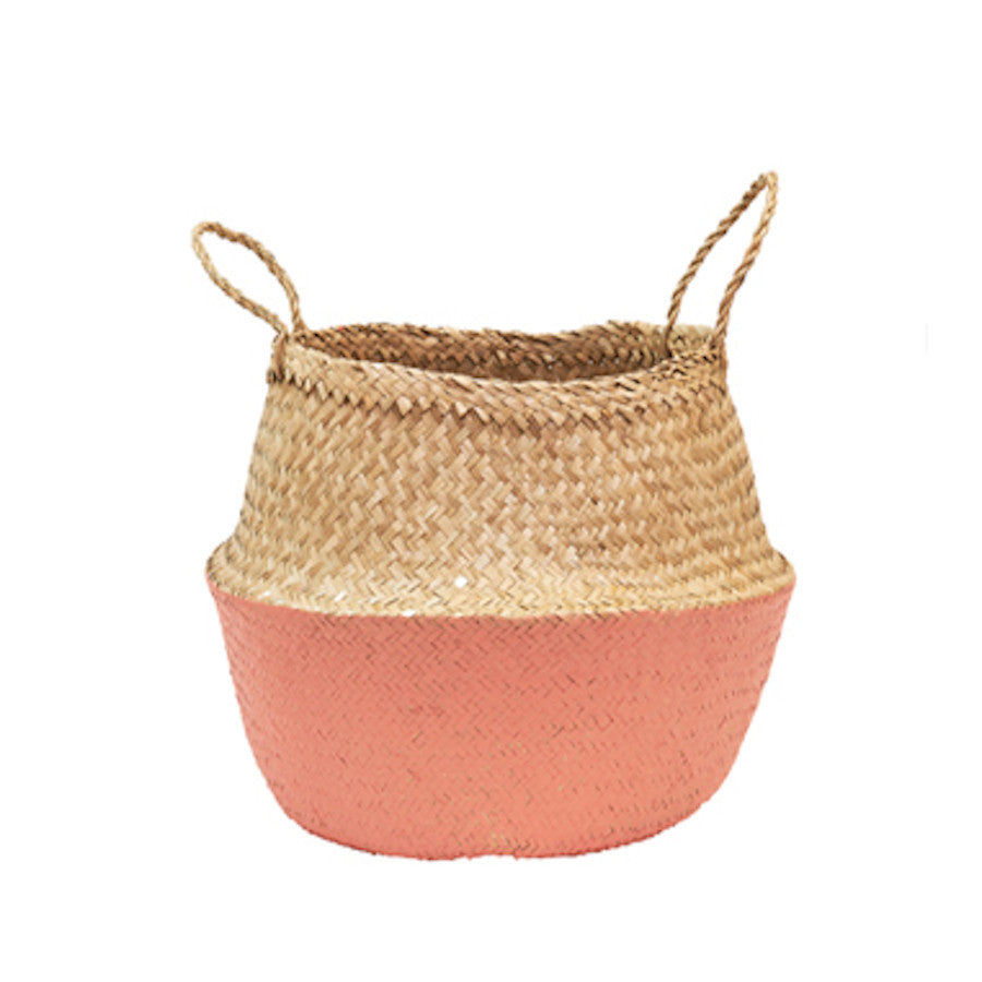 CORAL DIPPED BELLY BASKET - DOODAH