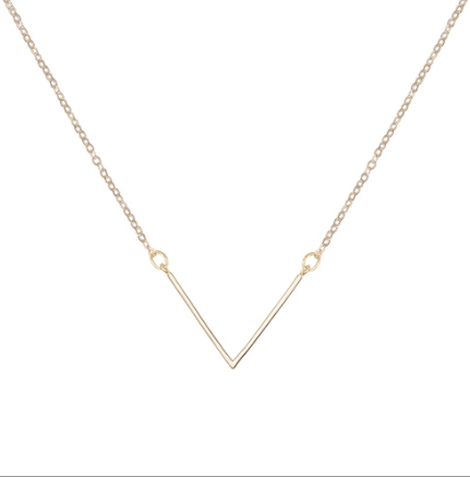 GOLD CHEVRON NECKLACE - DOODAH