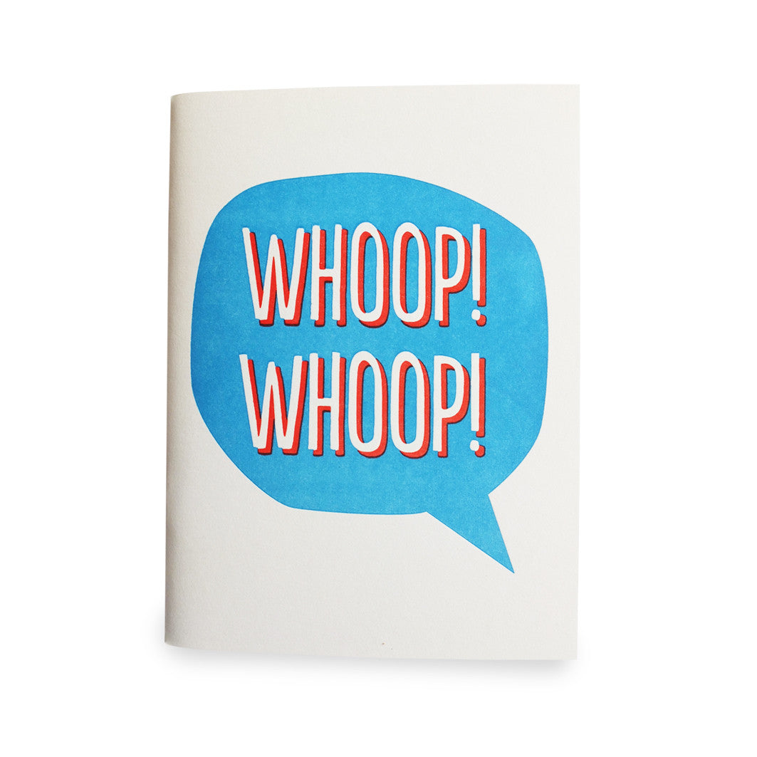 WHOOP WHOOP LETTERPRESS NOTEBOOK - DOODAH