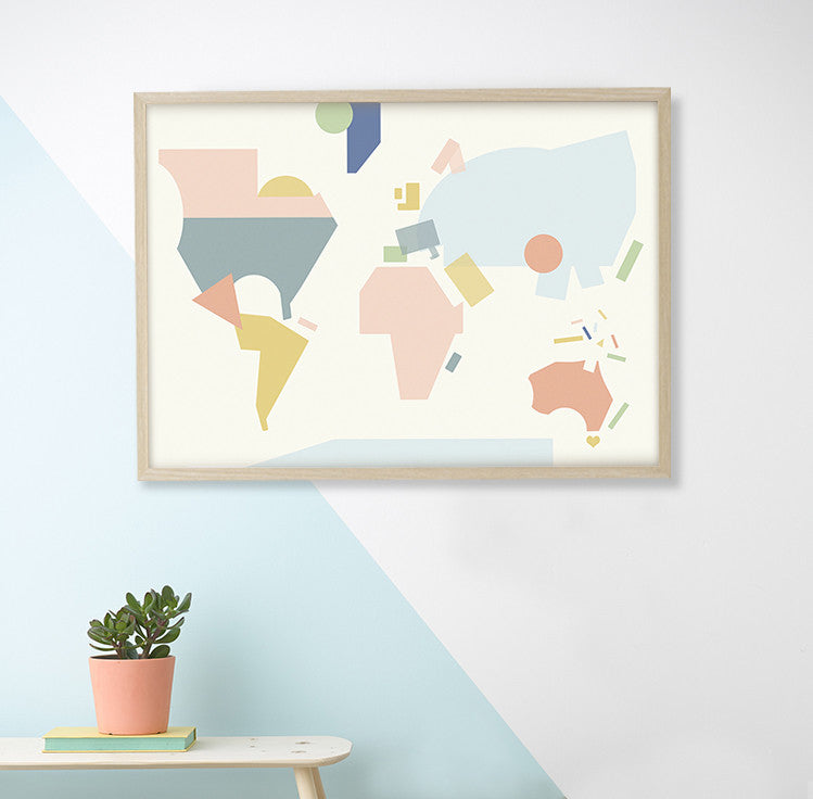 WORLD MAP POSTER - DOODAH