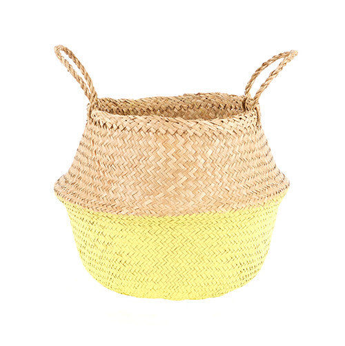 YELLOW DIPPED BELLY BASKET - DOODAH