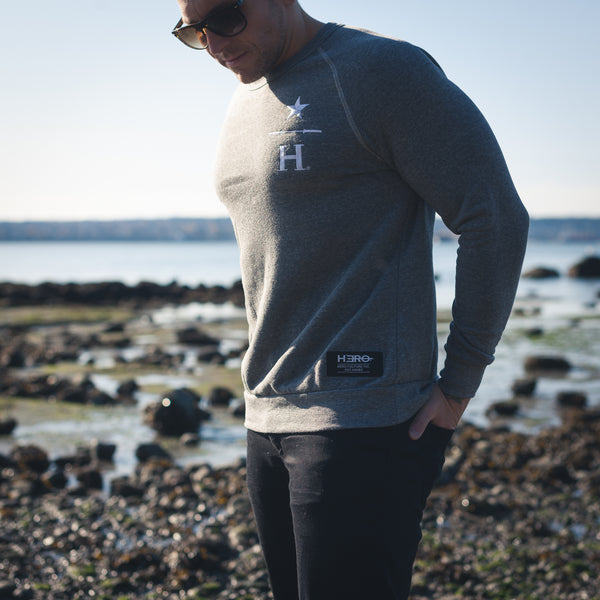 ICON II CREWNECK - HEATHER GREY TRIBLEND
