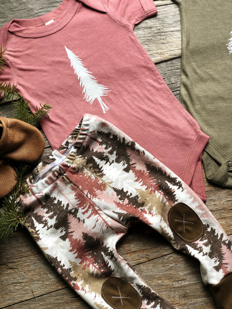 Alpine Tree | Mauve Onesie