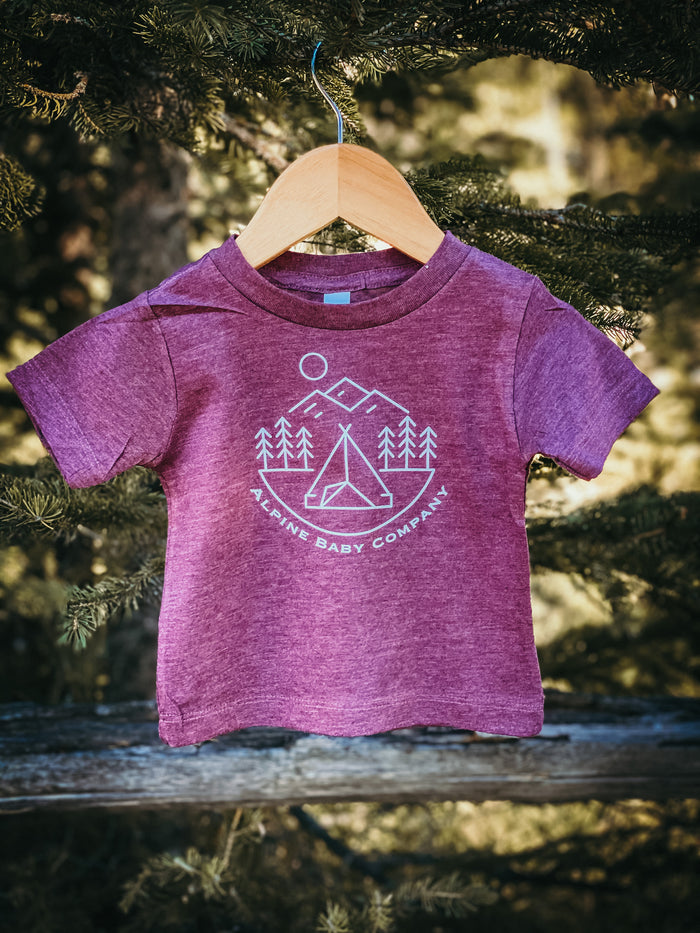 Alpine Baby Co  | Maroon Tee