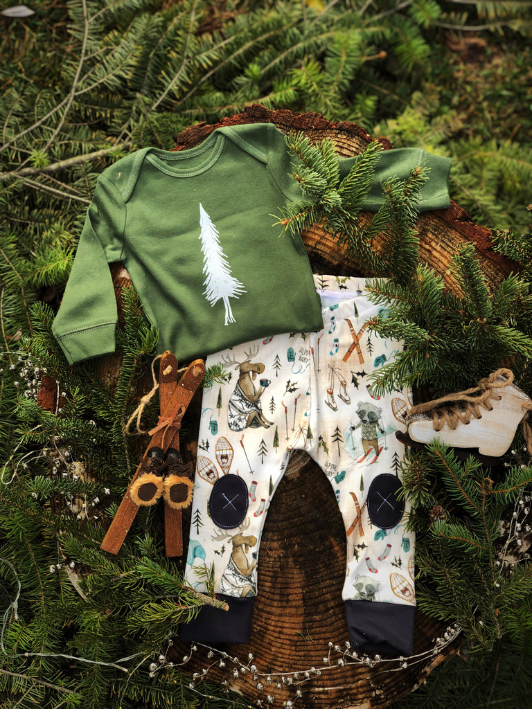 Alpine Tree | Green Onesie