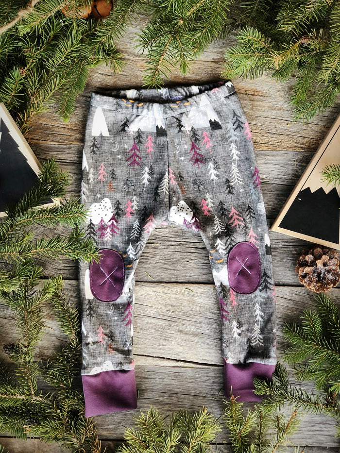 Forest Peaks Plum |  Adventure Leggings