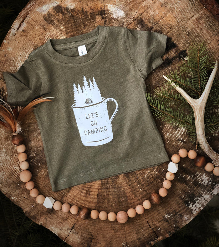 Let's Camp | Olive Tee
