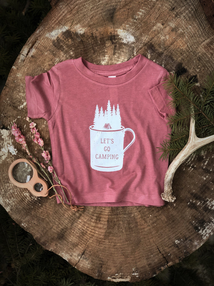 Let's Camp | Mauve Tee