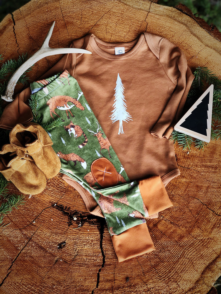 Alpine Tree | Ginger Onesie
