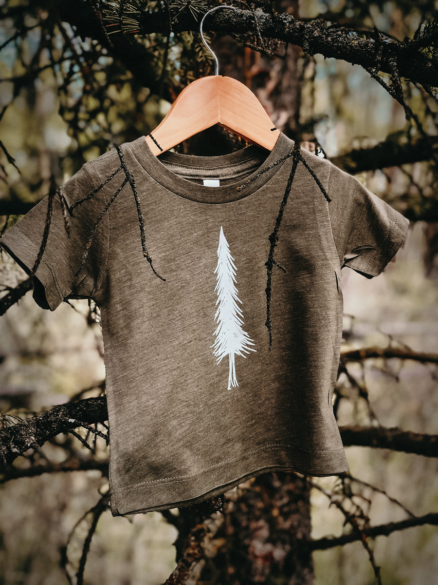 Alpine Tree | Olive Tee