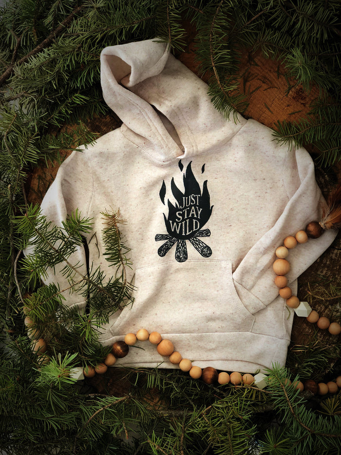 Just Stay Wild  | Natural Toddler Hoody