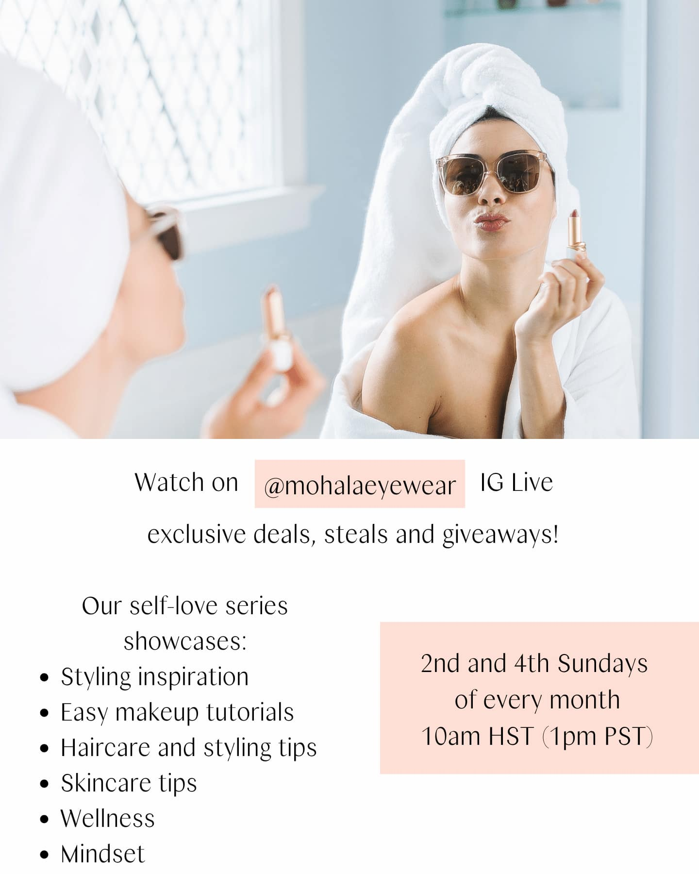 Self-love events and IG Live Shopping