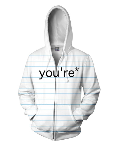 Good Grammar You're* Zip-Up Hoodie