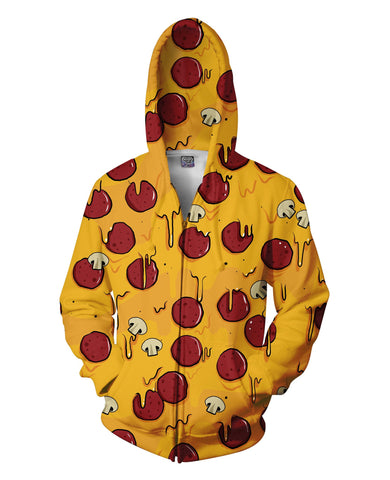Pizza Time Zip-Up Hoodie