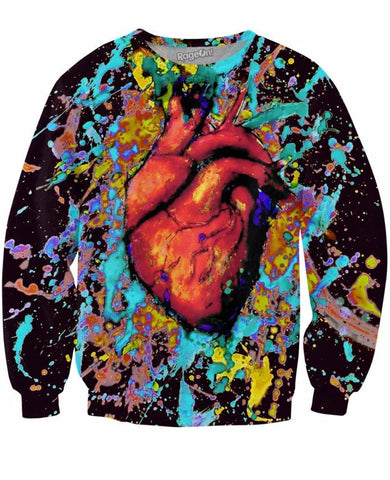 Heart Paint Crewneck Sweatshirt