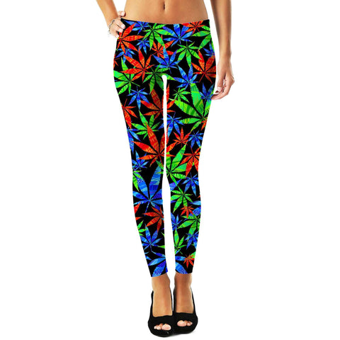 Weeds 3D Leggings