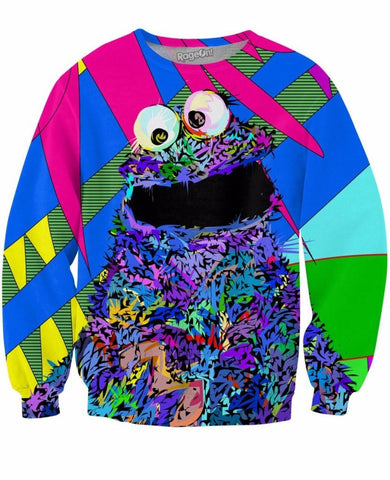 Cookie Monster Crewneck Sweatshirt