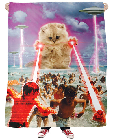 The Kitten No One Loved Fleece Blanket
