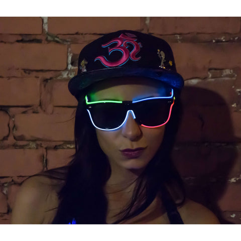 Multi-Color El Wire Glasses