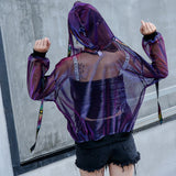 Womens Holographic Hoodies