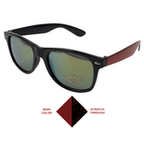 Scratchy's Sunglasses - LIMITED EDITION - Black/Red - Reflective Lenses