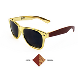 Scratchy's Sunglasses - The World's Only Customizable Scratch Sunglasses - Gold/Garnet