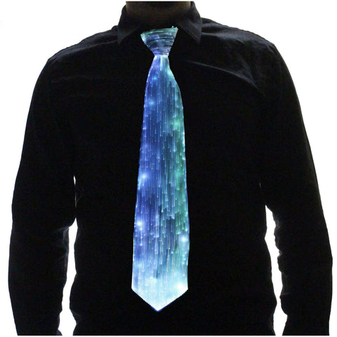 EDMPlug.com Light up tie glow tie fiber optic tie