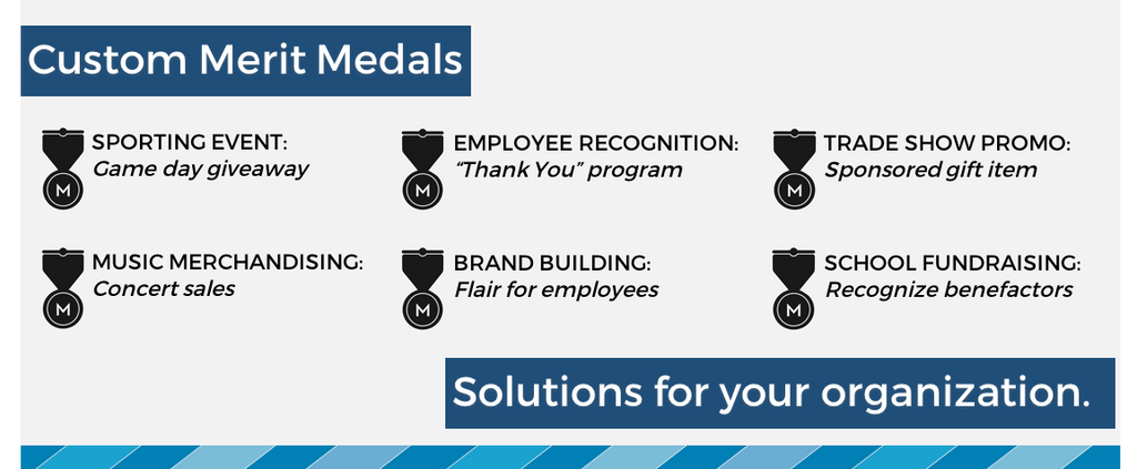 Custom Merit Medals: Branding Solutions for your Organization