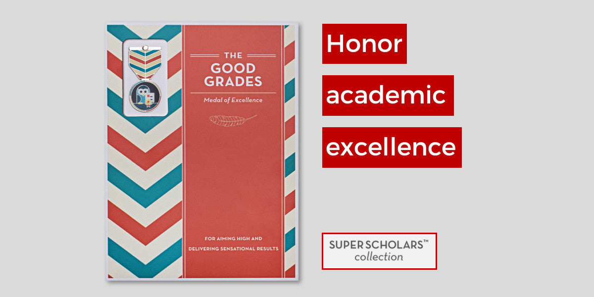 SUPER SCHOLARS  Recognize key achievements in the classroom of your young heroes.