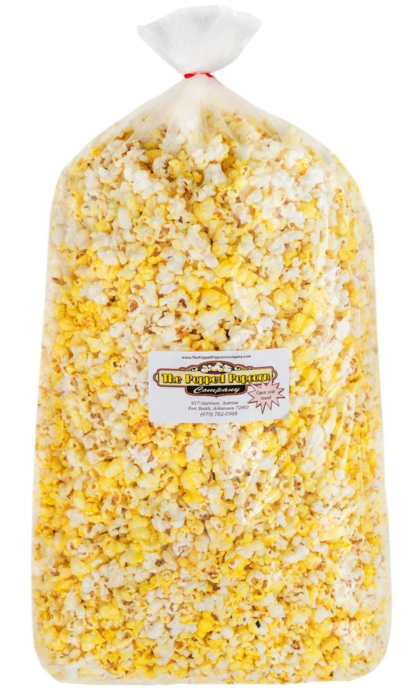 Buy a 6 1/2 gallon bag (104 cups) of fresh, gourmet, flavored popcorn from The Popped Popcorn Company. Ship popcorn orders anywhere in the Continental United States.